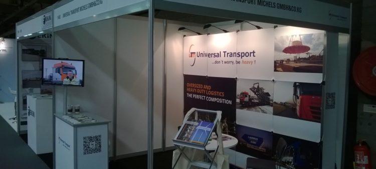 Messestand Universal Transport Break Bulk