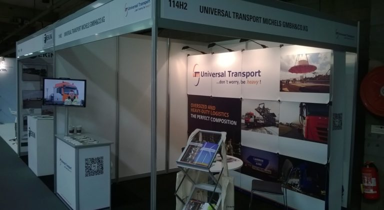 Messestand Universal Transport Break Bulk